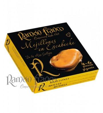 Espectaculares estos mejillones gigantes, seleccionados de las rias gallegas, sabor único de Ramon Franco